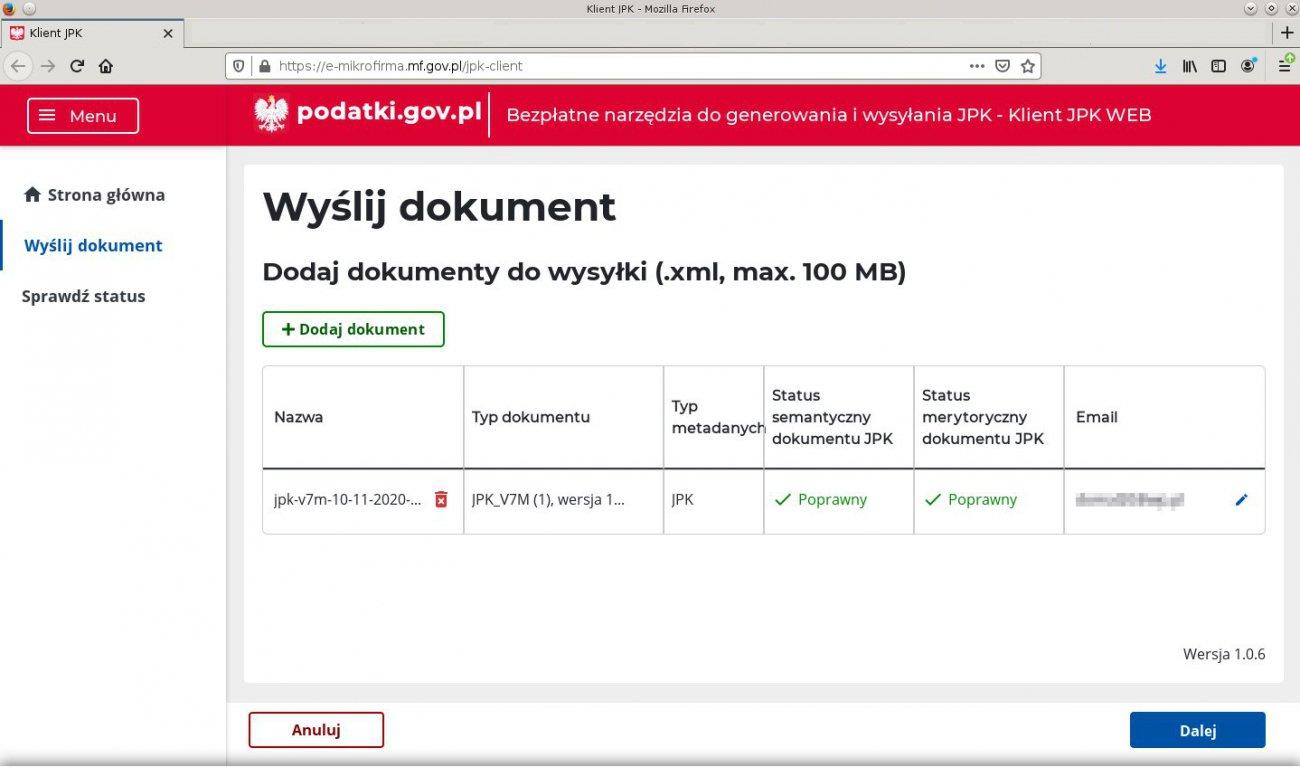 Aplikacja Klient JPK_WEB